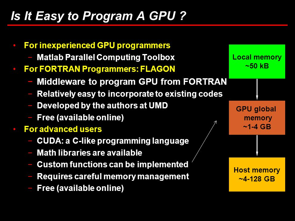 15 Task 3.5: Computational Considerations in Brownout Simulations Is It Easy to Program A GPU .