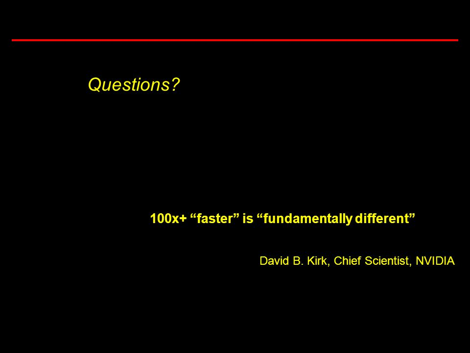 29 Task 3.5: Computational Considerations in Brownout Simulations 100x+ faster is fundamentally different David B.
