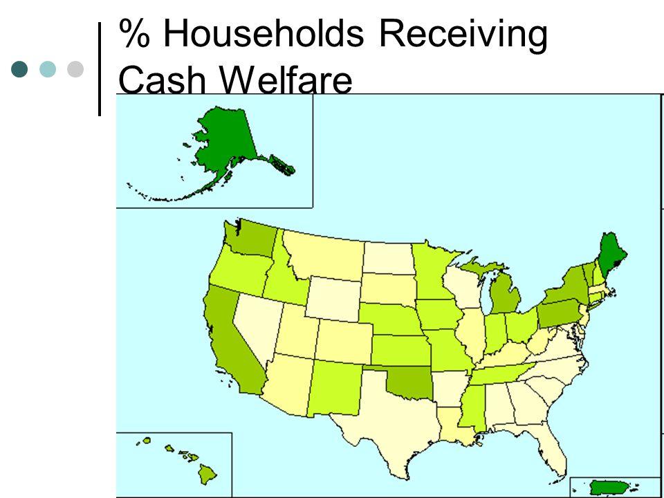 % Households Receiving Cash Welfare
