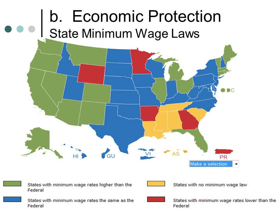 b. Economic Protection State Minimum Wage Laws