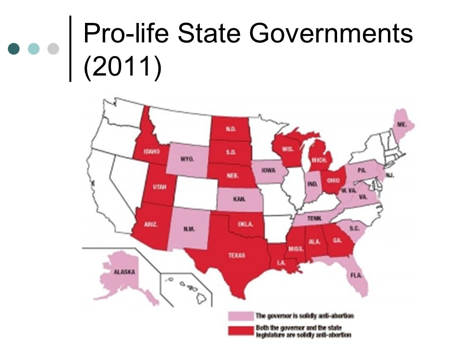 Pro-life State Governments (2011)