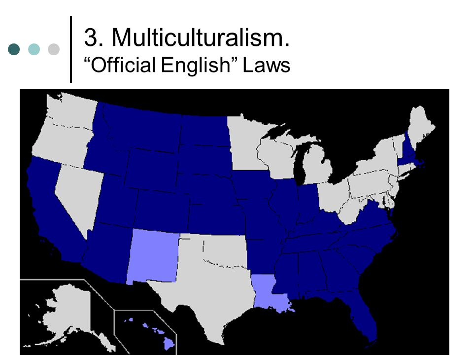 3. Multiculturalism. Official English Laws