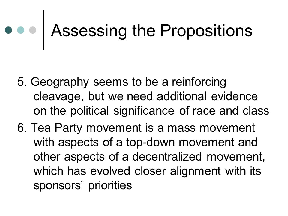 Assessing the Propositions 5.