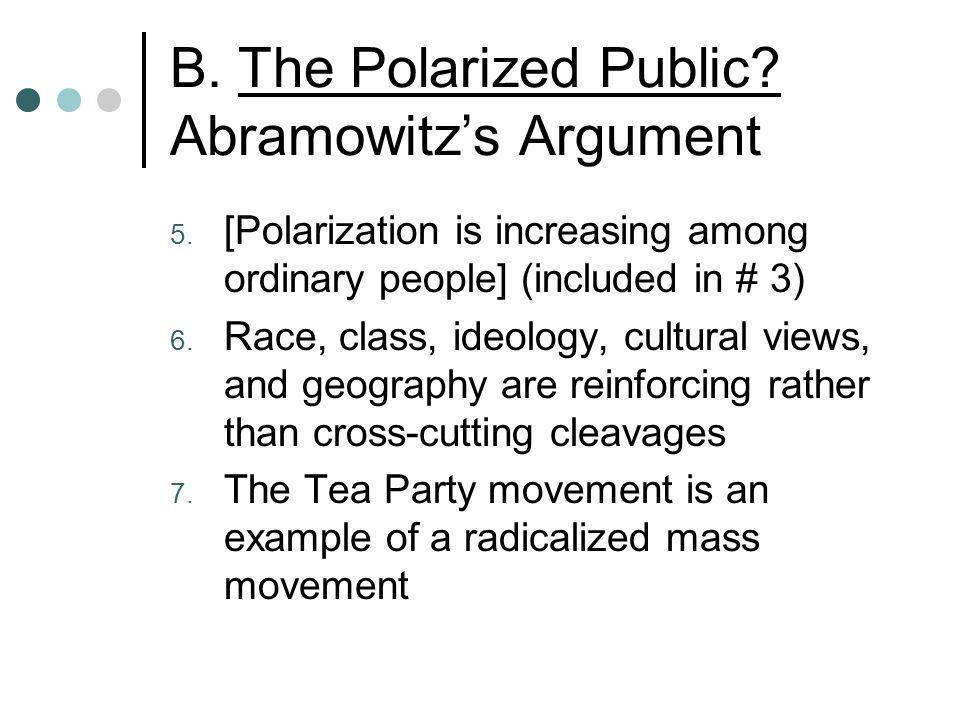 B. The Polarized Public. Abramowitz's Argument 5.