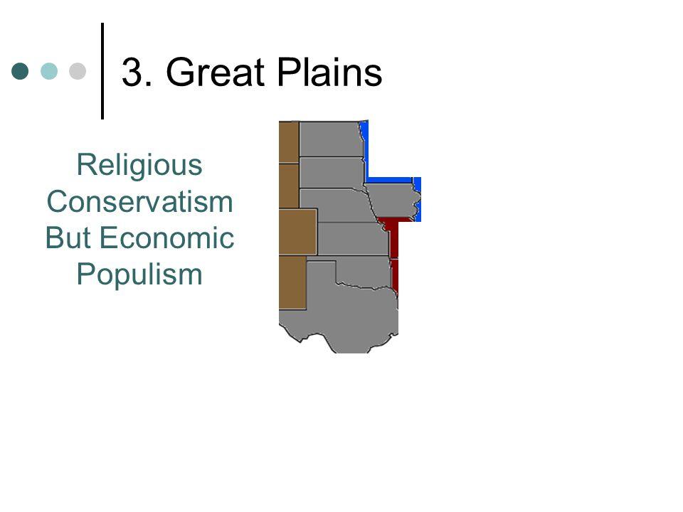 3. Great Plains Religious Conservatism But Economic Populism