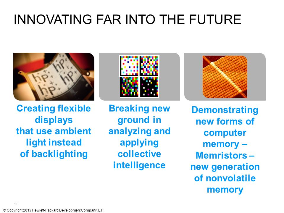10 INNOVATING FAR INTO THE FUTURE Creating flexible displays that use ambient light instead of backlighting Breaking new ground in analyzing and apply