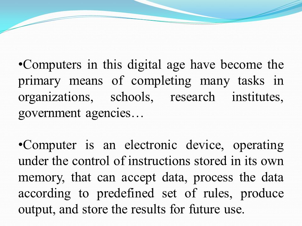 Types of Computer Super Computers Mainframes MiniComputers Micro Computers