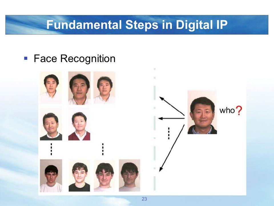 Fundamental Steps in Digital IP  Face Recognition 23