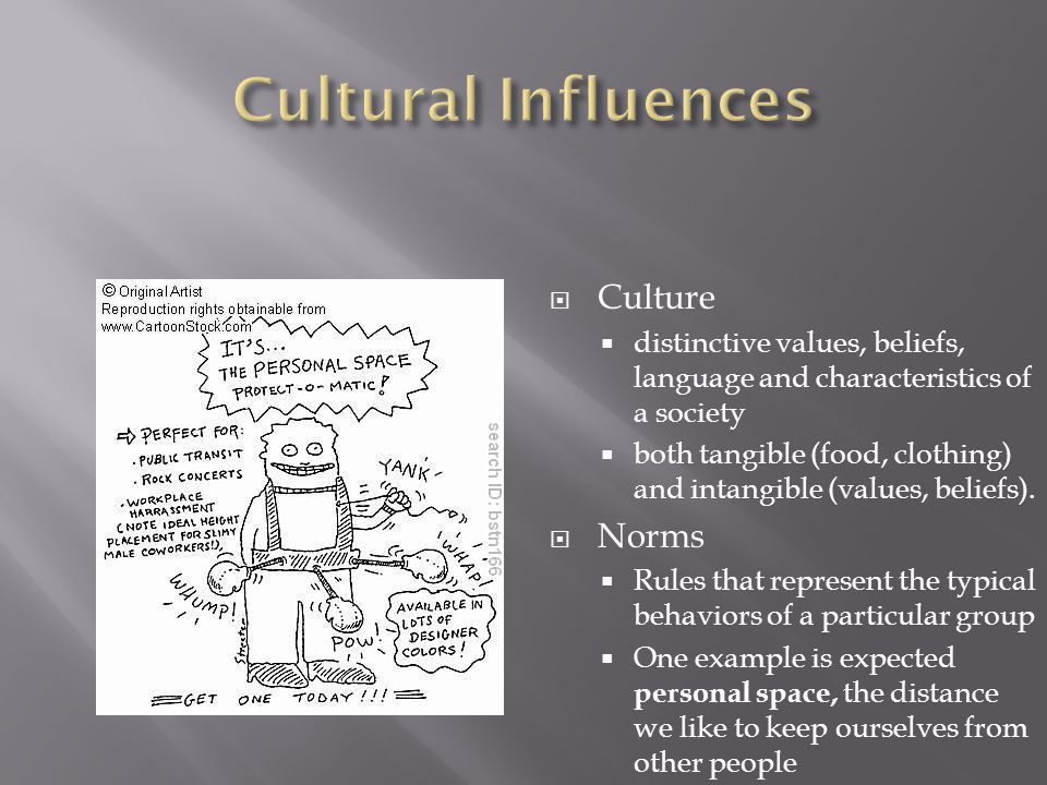  Culture  distinctive values, beliefs, language and characteristics of a society  both tangible (food, clothing) and intangible (values, beliefs).
