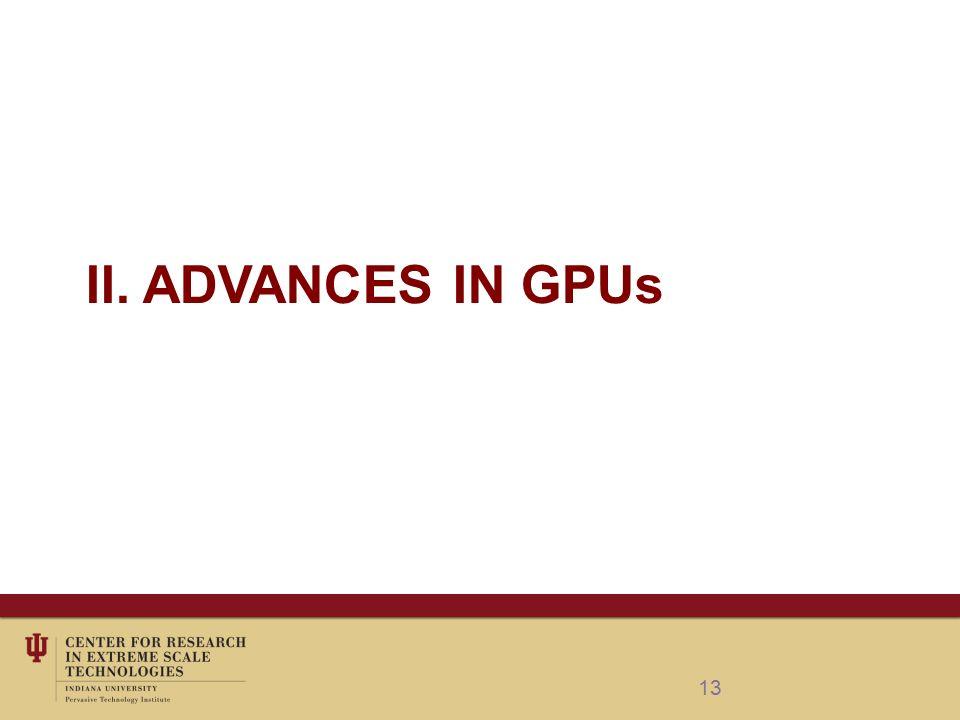 II. ADVANCES IN GPUs 13