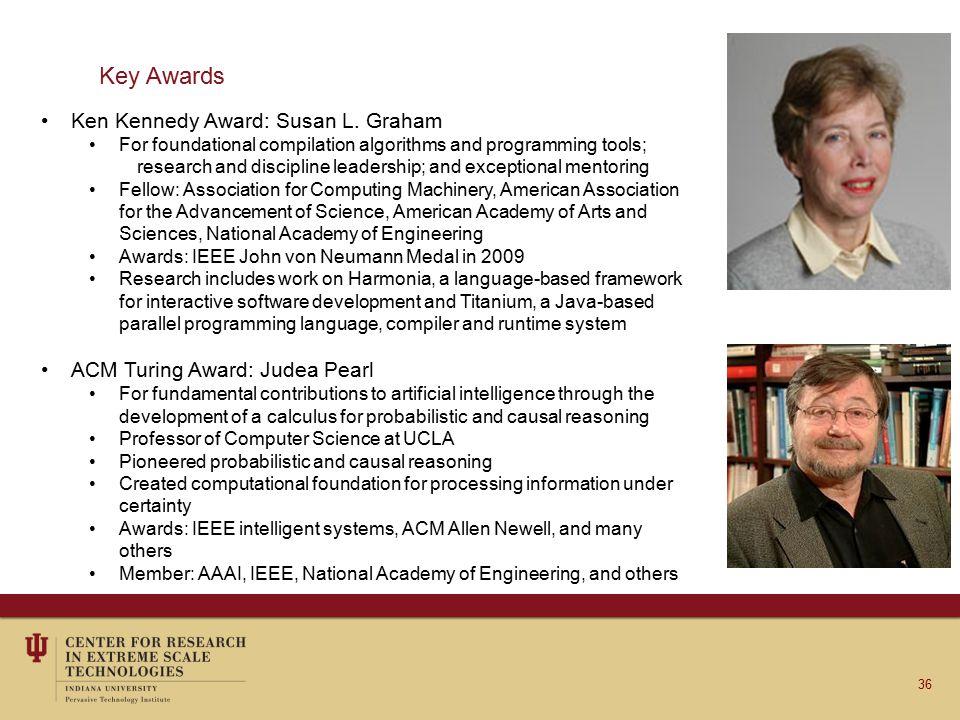 Key Awards Ken Kennedy Award: Susan L.