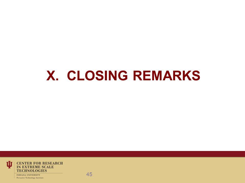 X. CLOSING REMARKS 45
