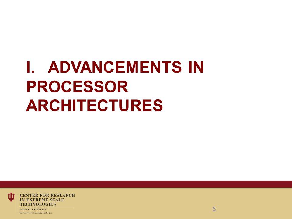 I. ADVANCEMENTS IN PROCESSOR ARCHITECTURES 5