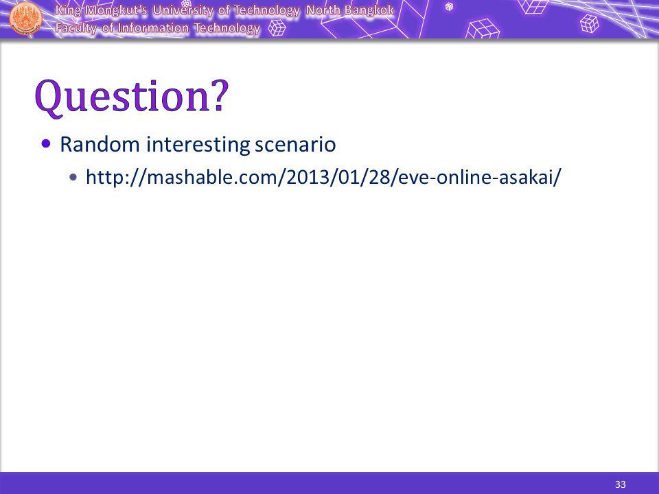 33 Random interesting scenario http://mashable.com/2013/01/28/eve-online-asakai/