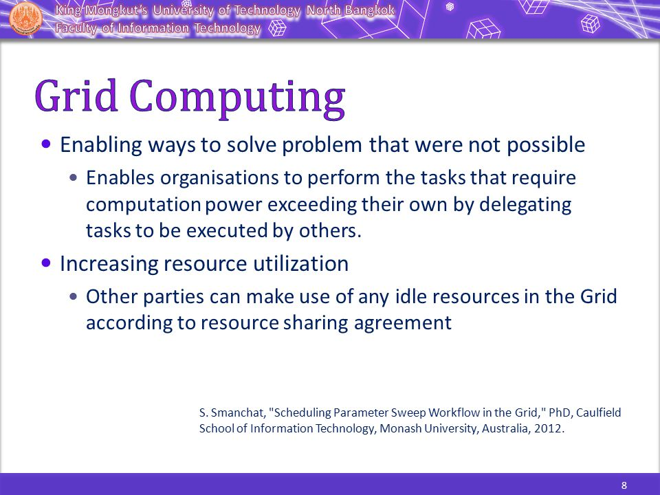 9 Ground concept remains similar: reducing cost, increasing reliability and flexibility by using federated resources Context changes: Big Data Virtualization Clusters are expensive Virtualization of commodity servers (or even clusters) is a better choices Problems in the resource management also remains similar.