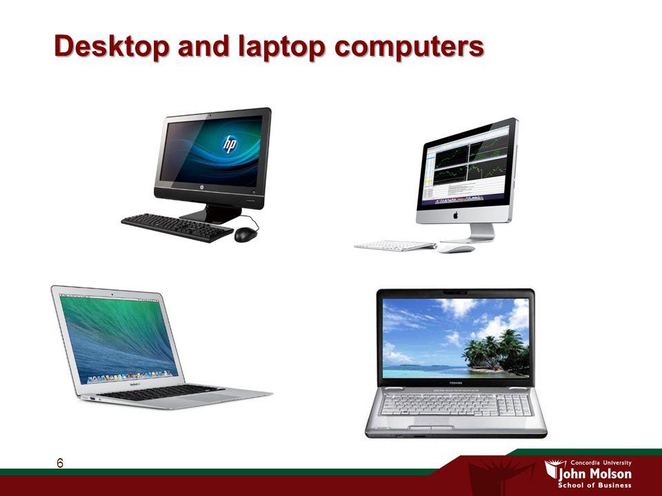 Desktop and laptop computers 6
