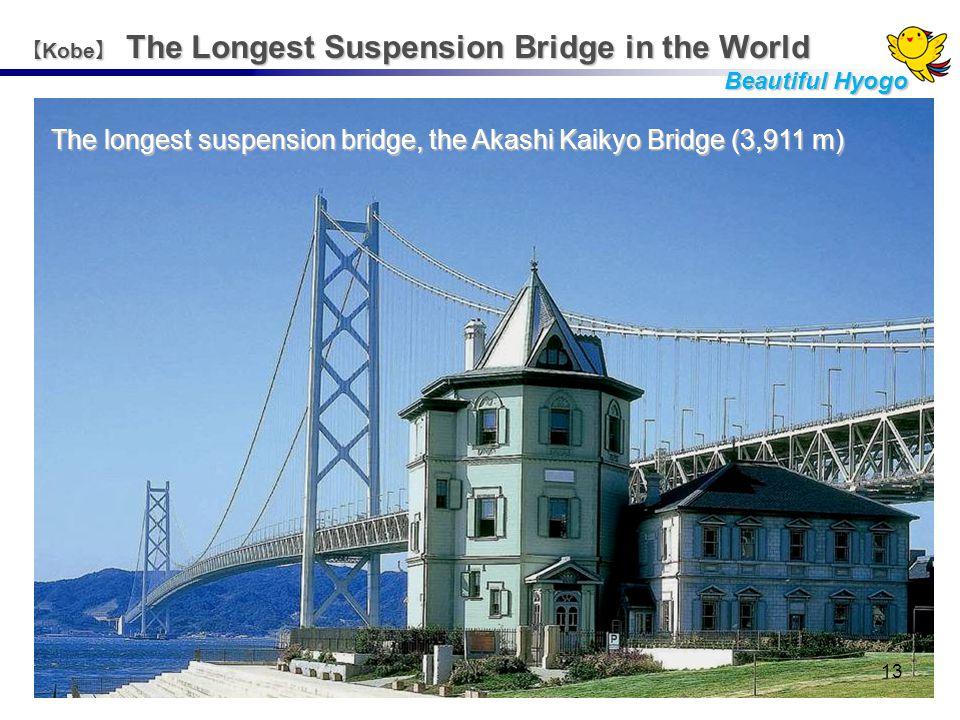 The longest suspension bridge, the Akashi Kaikyo Bridge (3,911 m) 【 Kobe 】 The Longest Suspension Bridge in the World Beautiful Hyogo 13