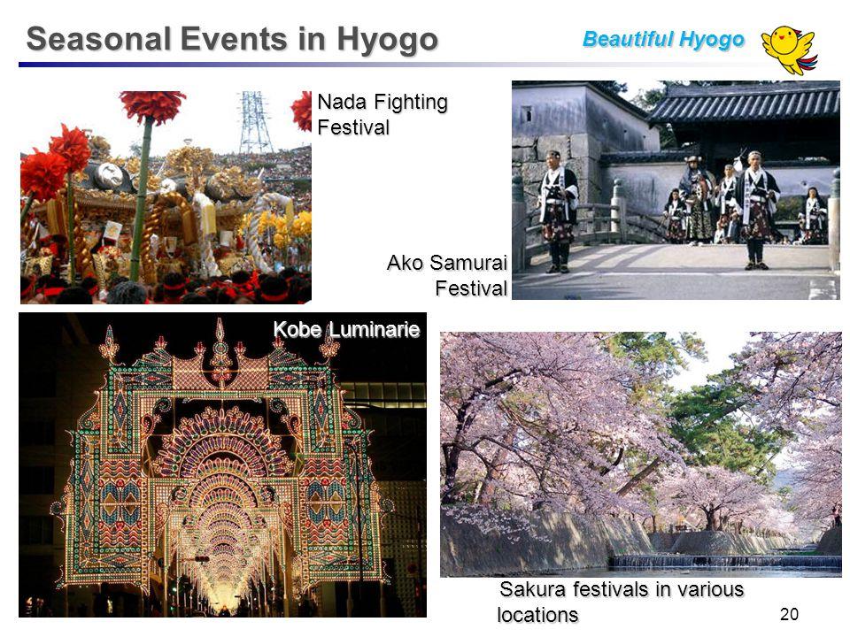 Ako Samurai Festival Nada Fighting Festival Kobe Luminarie Seasonal Events in Hyogo Sakura festivals in various locations Beautiful Hyogo 20