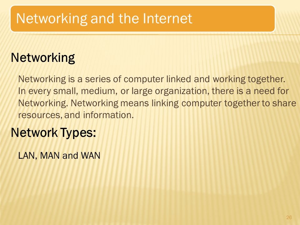 Networking is a series of computer linked and working together.