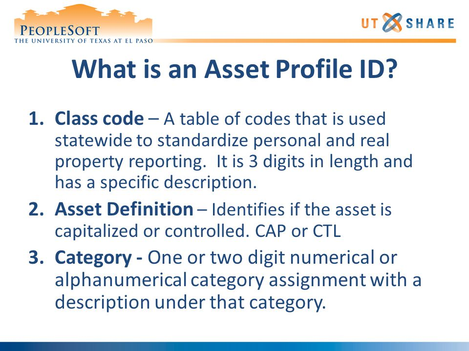 What is an Asset Profile ID.