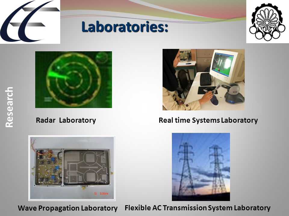 Radar Laboratory Laboratories: Laboratories: Research Wave Propagation Laboratory Flexible AC Transmission System Laboratory Real time Systems Laborat