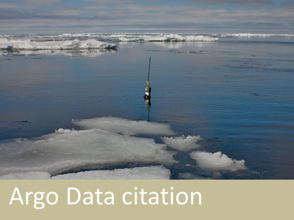 Argo Data citation