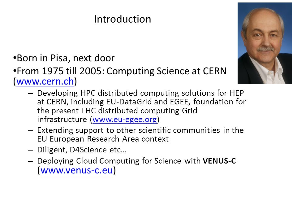 From a virtual infrastructure point of view Fabrizio Gagliardi ACM Europe