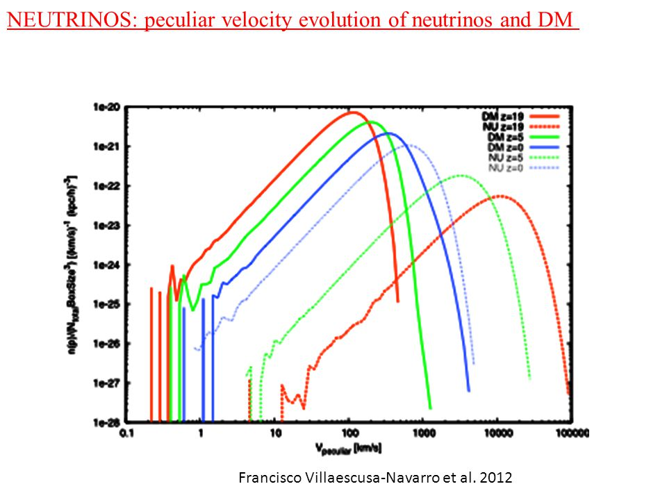 NEUTRINOS: peculiar velocity evolution of neutrinos and DM Francisco Villaescusa-Navarro et al. 2012