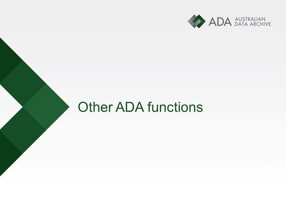 Other ADA functions