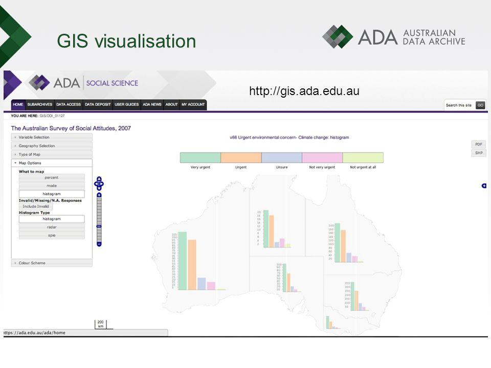 GIS visualisation http://gis.ada.edu.au
