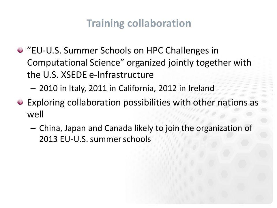 Training collaboration EU-U.S.