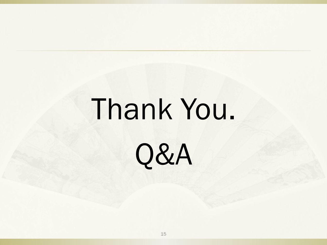 Thank You. Q&A 15