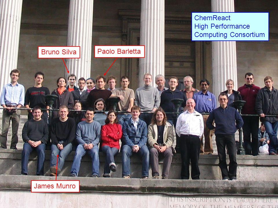 Bruno Silva Paolo Barletta James Munro ChemReact High Performance Computing Consortium