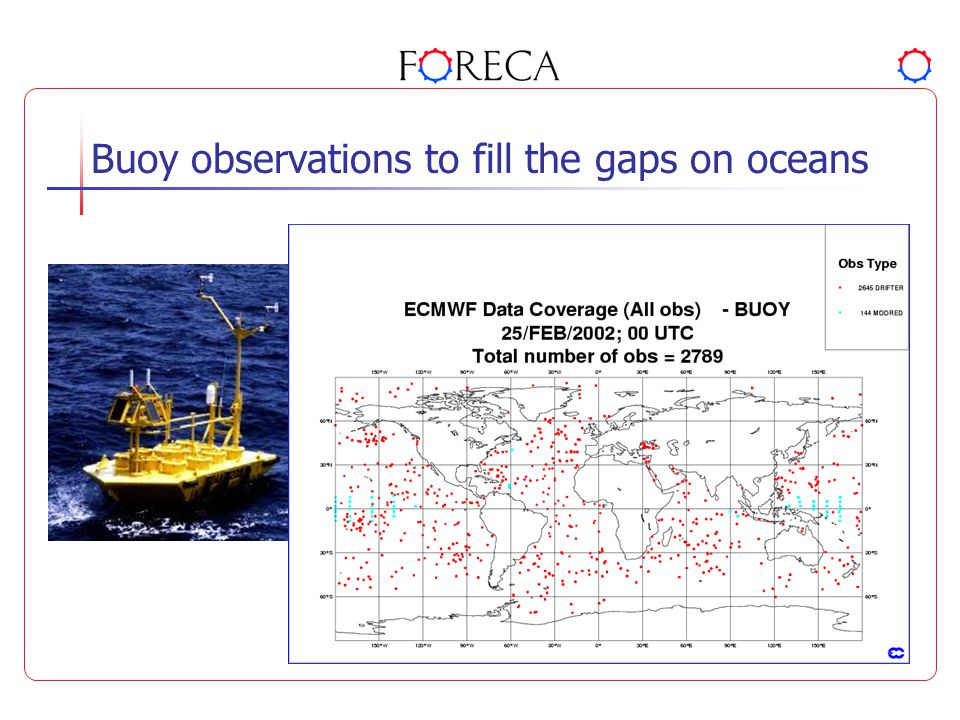 Buoy observations to fill the gaps on oceans