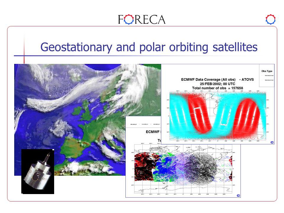 Geostationary and polar orbiting satellites