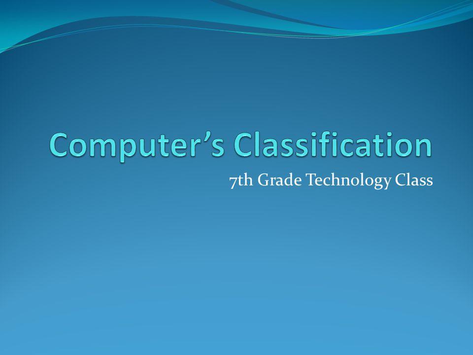 7th Grade Technology Class