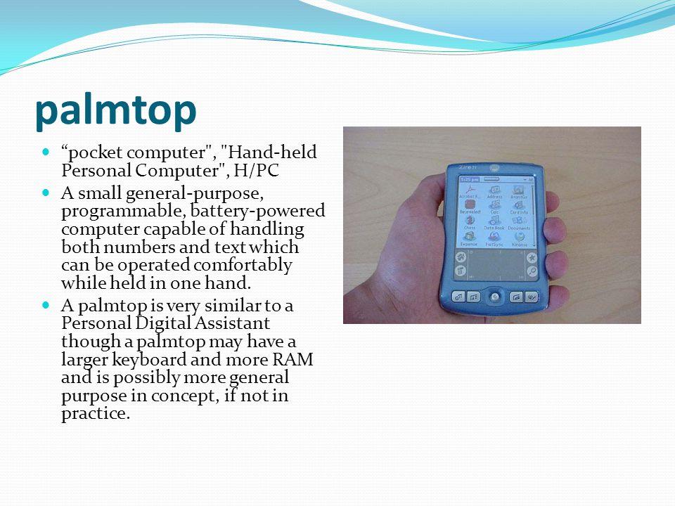 "palmtop ""pocket computer"