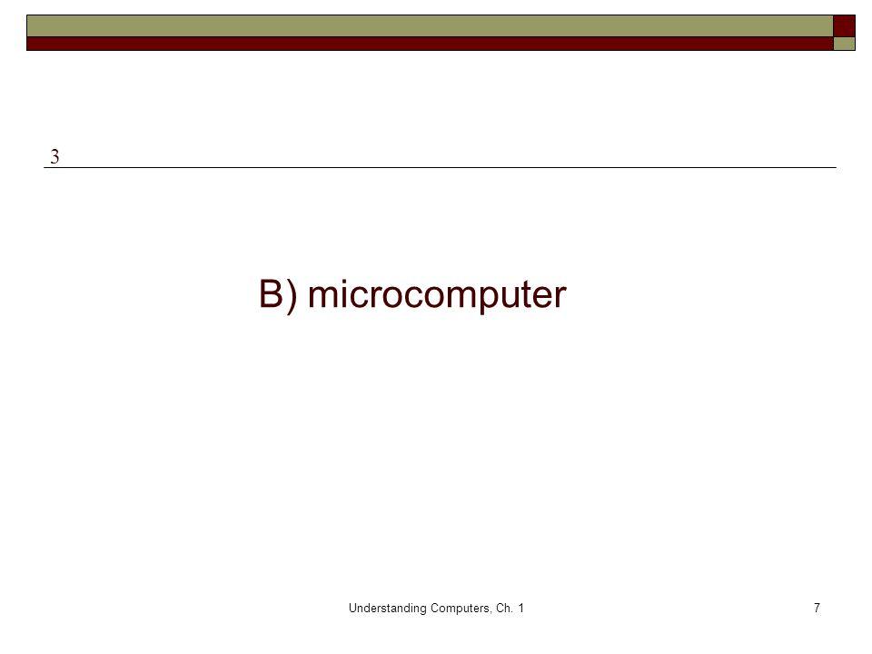 Understanding Computers, Ch. 17 B) microcomputer 3