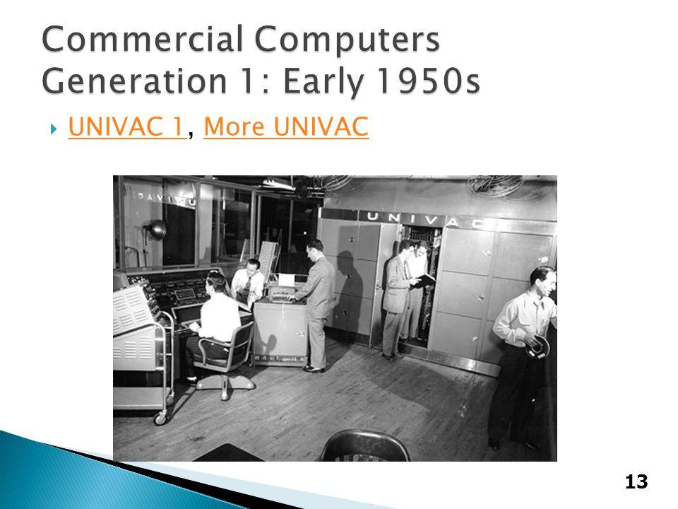  UNIVAC 1, More UNIVAC UNIVAC 1More UNIVAC 13