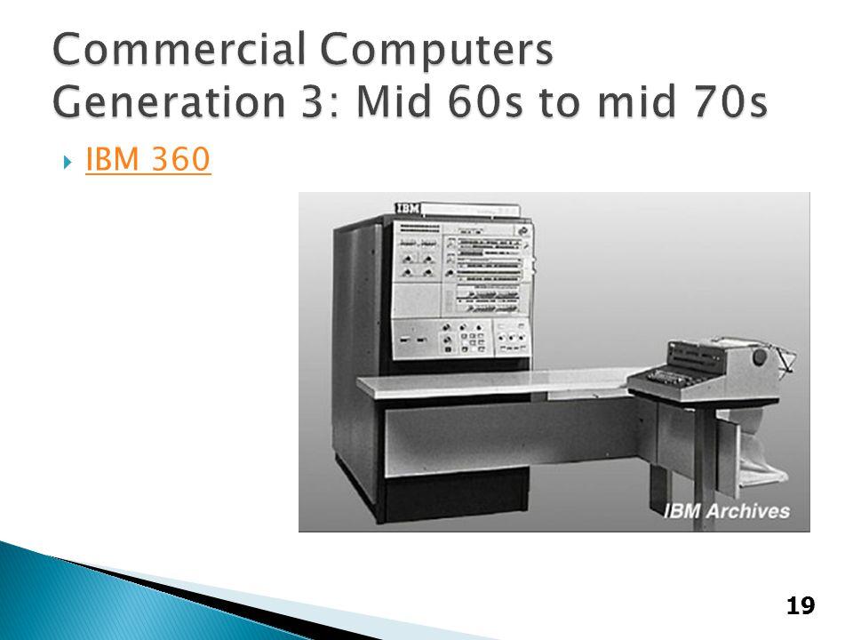  IBM 360 IBM 360 19