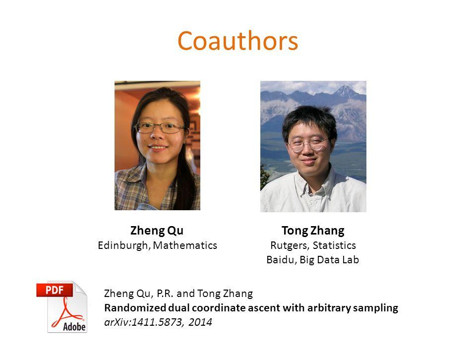 Coauthors Zheng Qu Edinburgh, Mathematics Zheng Qu, P.R.