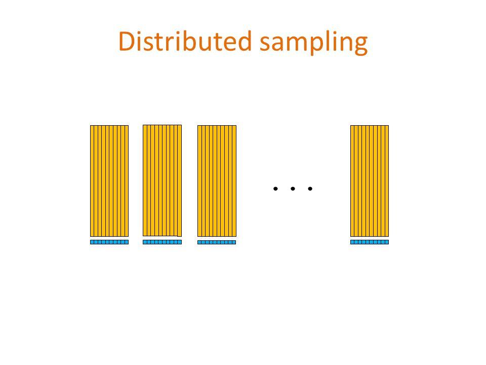Distributed sampling