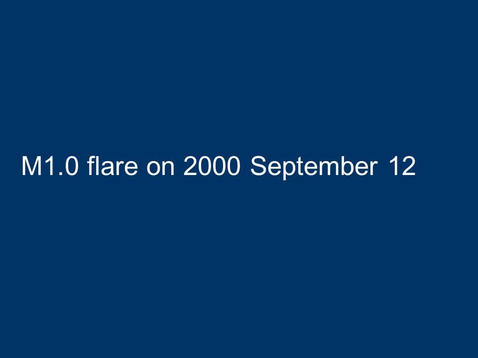 M1.0 flare on 2000 September 12