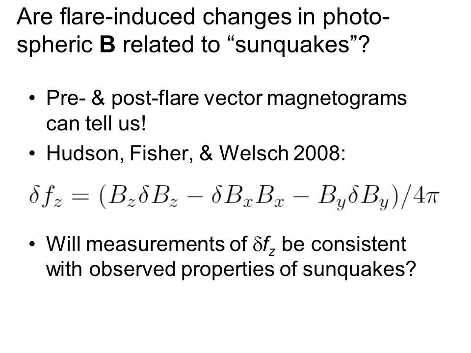 Are flare-induced changes in photo- spheric B related to sunquakes .