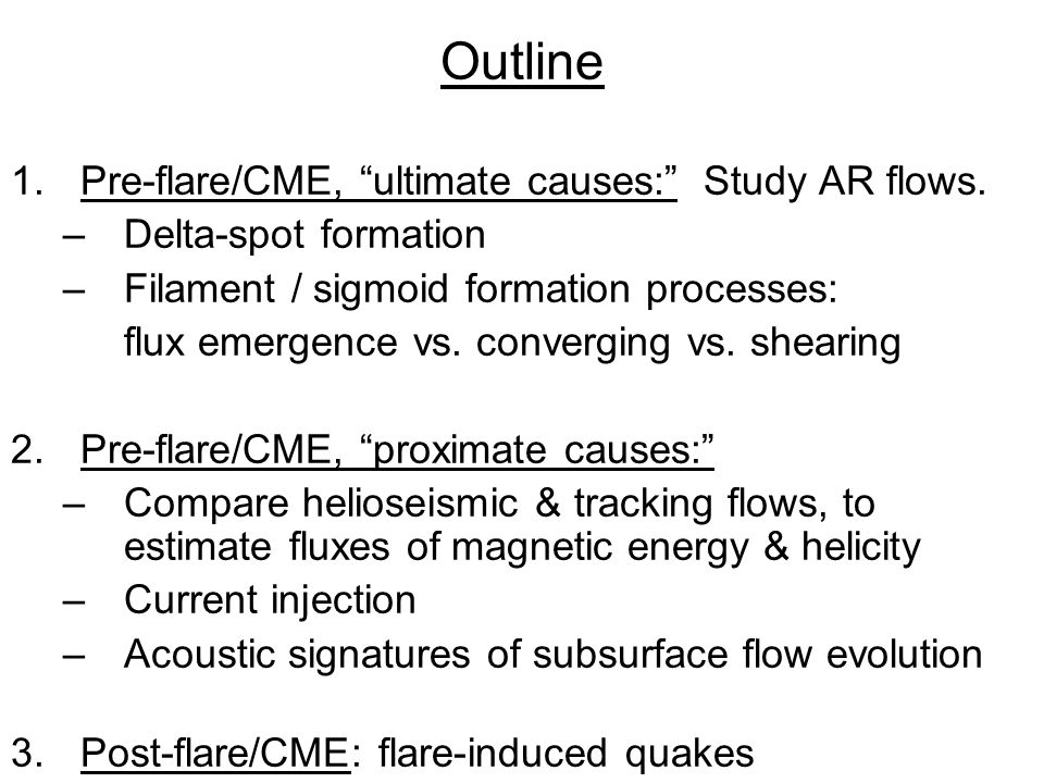 SDO documents list 'official' helioseismology science objectives related to flares & CMEs.