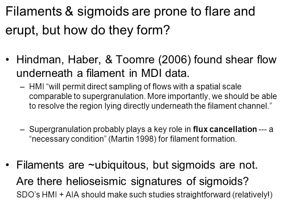 Outline, Repeated.1.Pre-flare/CME, ultimate causes: Study AR flows.