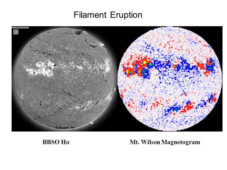 Filament Eruption BBSO HαMt. Wilson Magnetogram