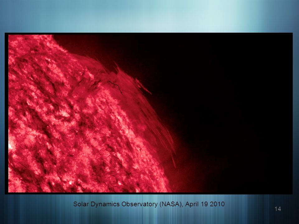 14 Solar Dynamics Observatory (NASA), April 19 2010