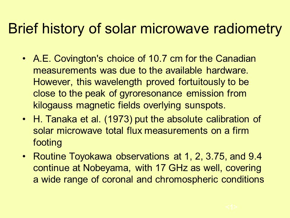 Brief history of solar microwave radiometry A.E.
