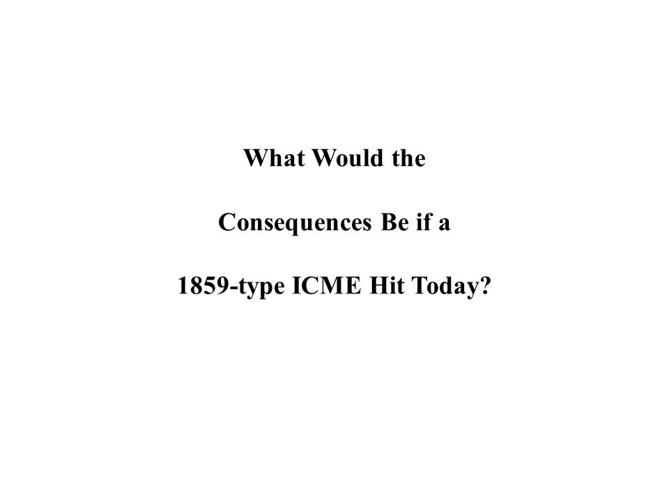 What Would the Consequences Be if a 1859-type ICME Hit Today?